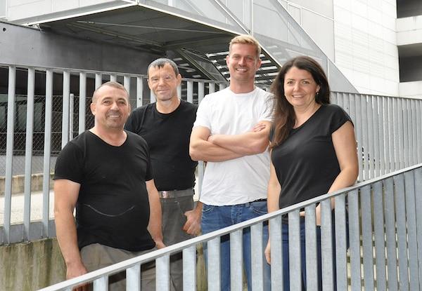 Das Wohnbeton-Team – mit Inhaber Markus Kronegger (3. von links)