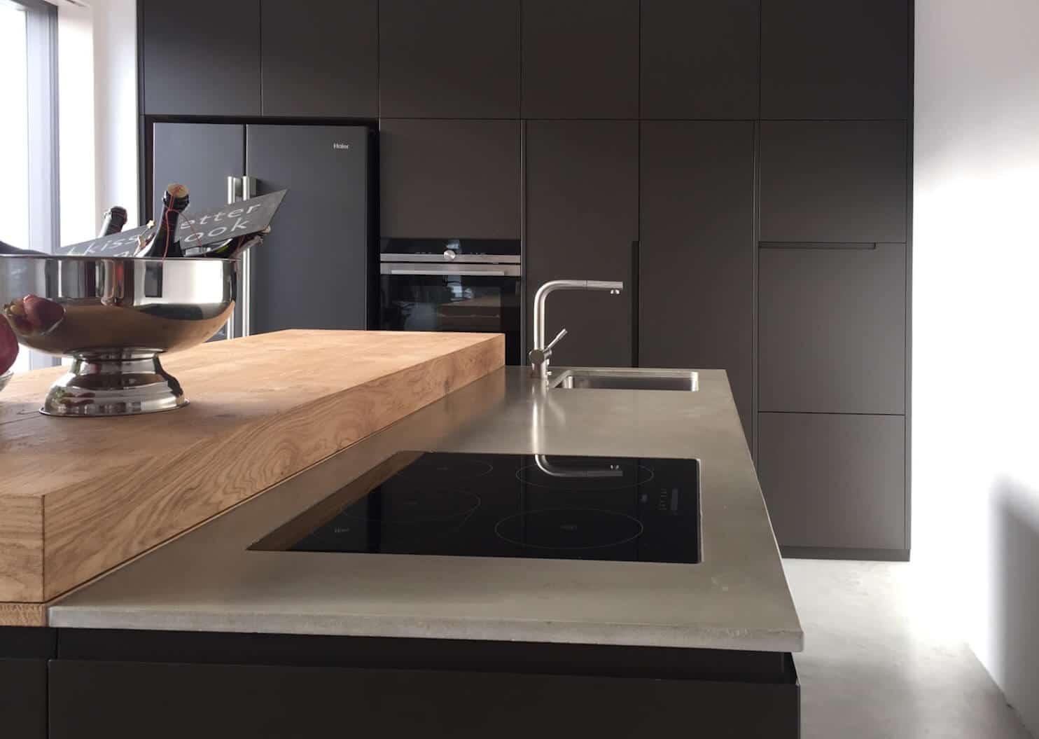 Individueller Gestaltung mit Wohnbeton in der Küche