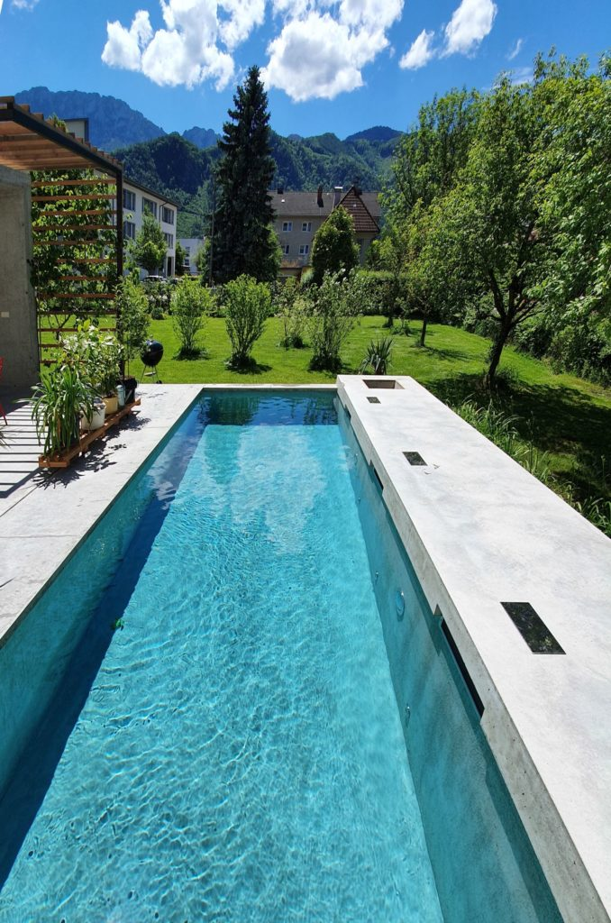 Wohnbeton im Freien für Terasse, Tisch, Balkon und Pool